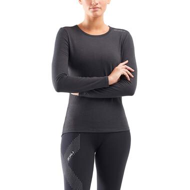 Sous-Vêtement Technique 2XU Femme Manches Longues Noir 2021
